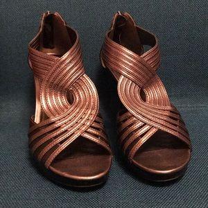 Silver Franco Sarto Heels